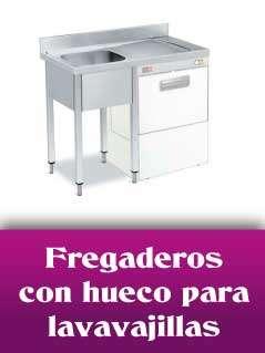 Fregaderos con hueco lavavajillas