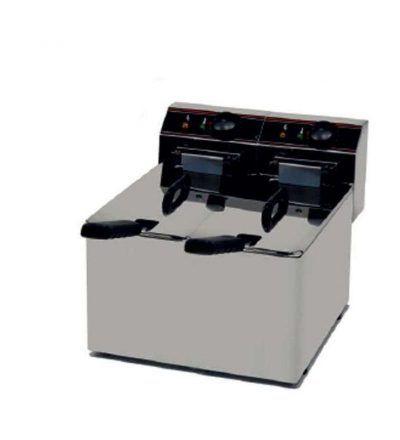 Freidora eléctrica sin grifo vaciado 5 + 5 L FESGV-EVO55-ARX