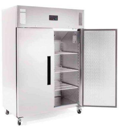 Armario frigorífico puerta maciza acero inoxidable 1200 L