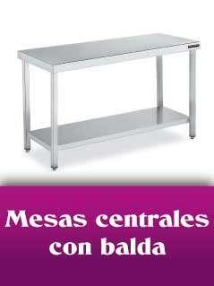 mesas centrales con balda