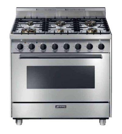 Cocina a gas 6 fuegos y horno multifunción eléctrico