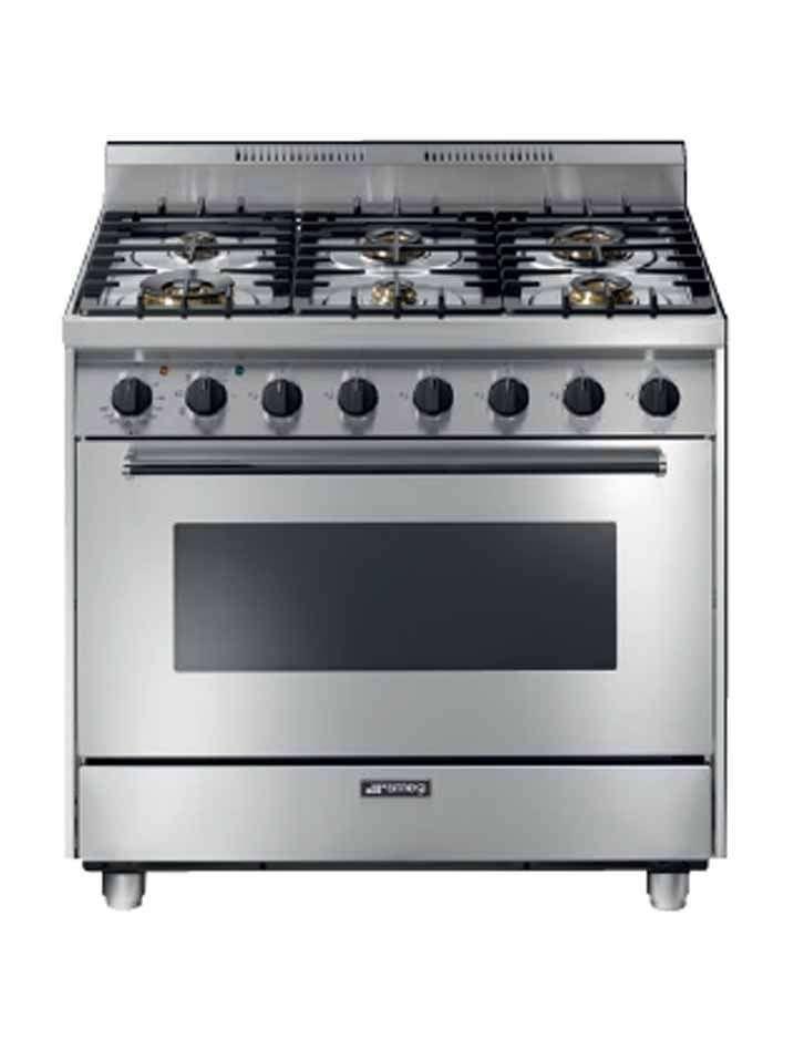 Cocina a gas y horno multifunción eléctrico     CGHME-CA90E6-SMEG