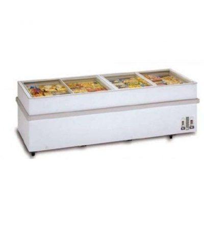 Congelador glass-top con puertas cristal correderas 1500 CGTPCC-N1500-MAS