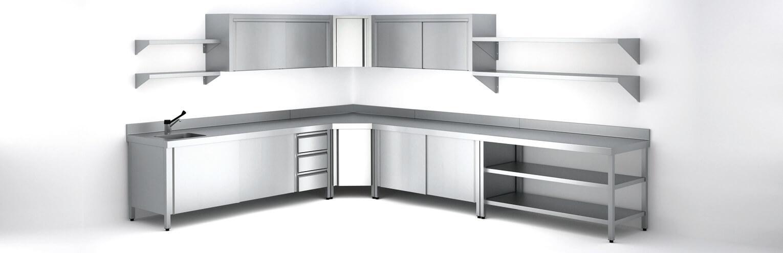 estanterias pared 1 - La cocina para restaurante: Cómo distribuirla