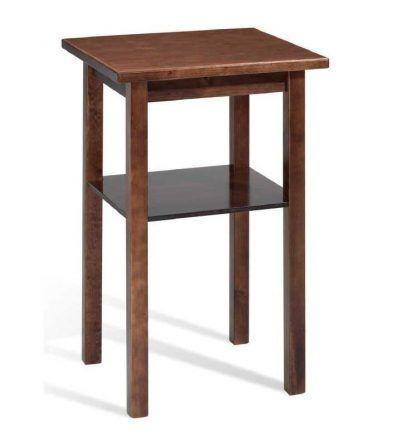 Mesa madera alta cuadrada
