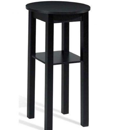 mesa madera alta redonda