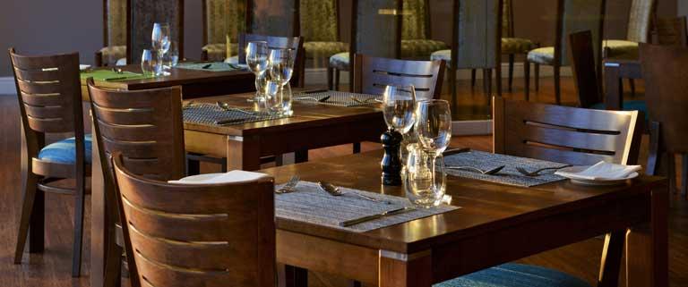 mesas madera - Mesa madera burdeos