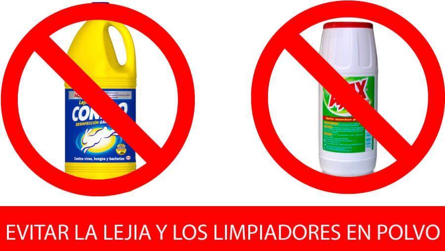 Limpiar acero inoxidable: productos a evitar