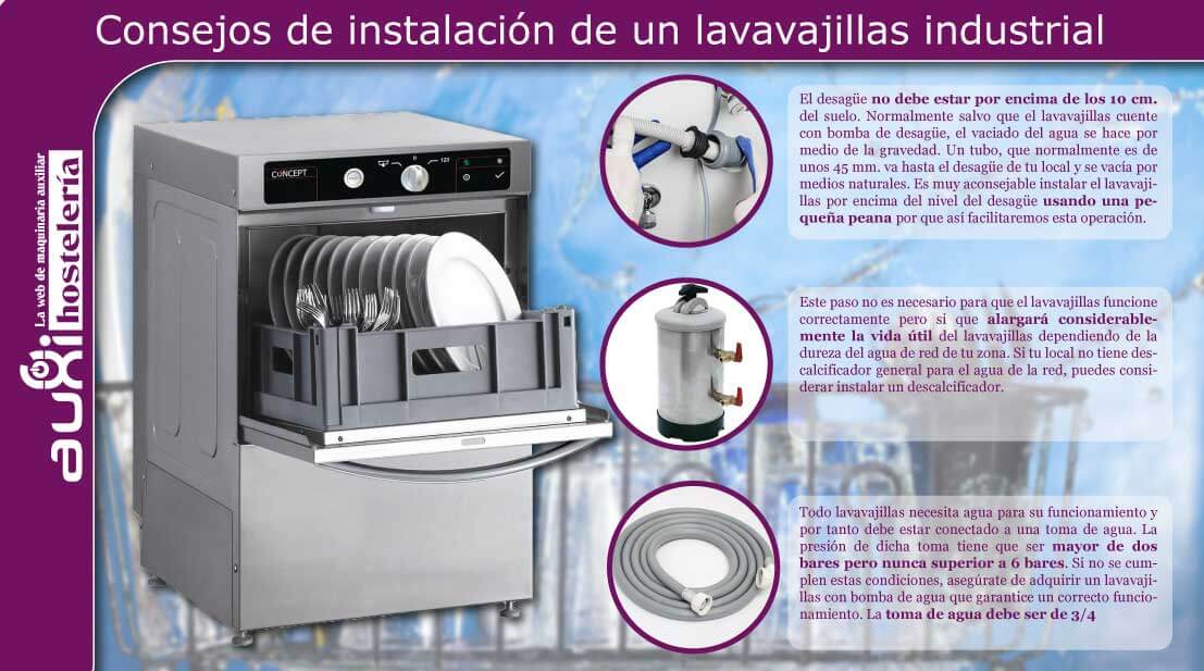 Consejos para instalar un lavavajillas industrial