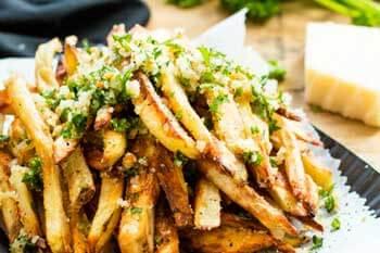 patatas fritas a la parmesana