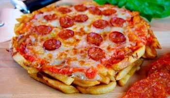 Pizza de patatas fritas