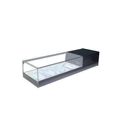 vitrina refrigerada cristal plano 4 bandejas