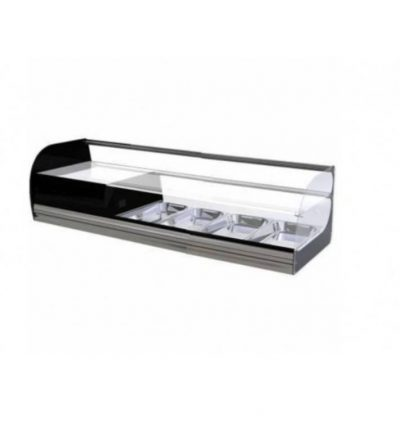 Vitrina refrigerada cristal plano 2 pisos 1146mm 4 bandejas