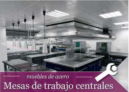 CATEGORIA MESAS DE TRABAJO CENTRALES - Home Auxihosteleria-Maquinaria de hostelería