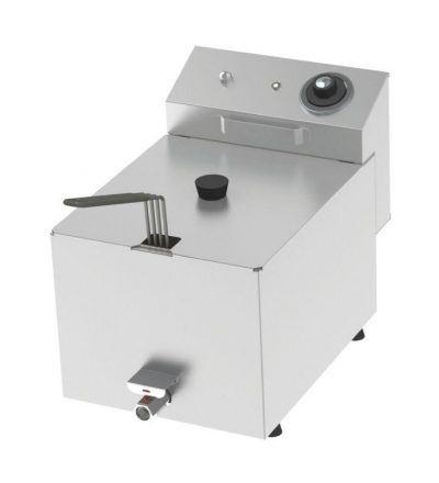 Freidora eléctrica una cuba 8 litros y 3,8 KW con Grifo