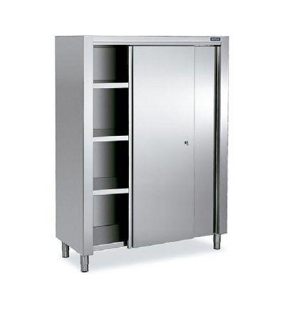 Armario Doble puertas correderas 400x440 - Maquinaria hosteleria ocasion: Muebles de acero