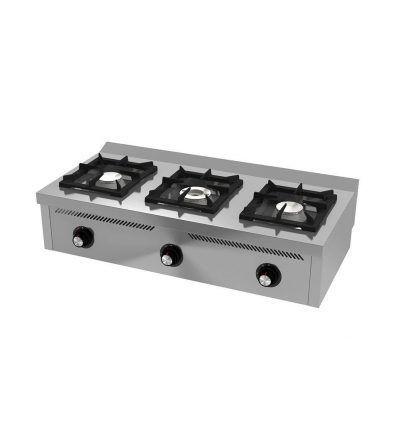 Cocina a Gas Sobremesa 3 Fuegos 1200×600