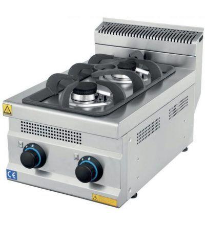 Cocina a Gas Sobremesa 2 Fuegos ECO 400×630