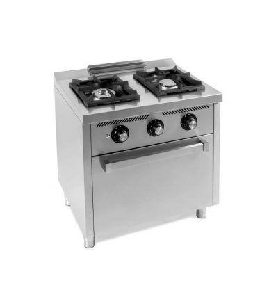 Cocina a Gas 2 Fuegos 800x600 con horno