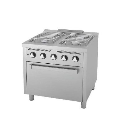 Cocina a Gas 4 Fuegos con Horno EC 800×750