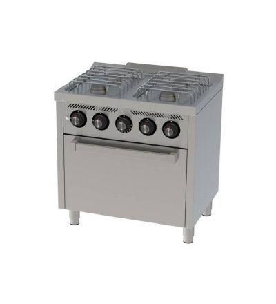 Cocina a Gas 4 Fuegos con Horno 800×600 ECO