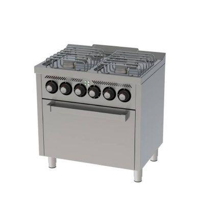 Cocina a Gas 4 Fuegos con Horno Electrico 800×600 ECO