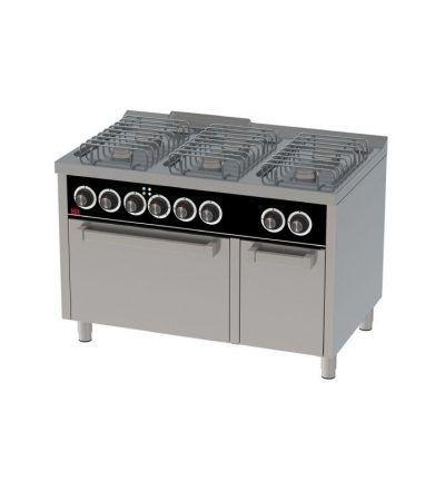 Cocina a Gas 6 Fuegos con Horno Electrico EC 1200×750