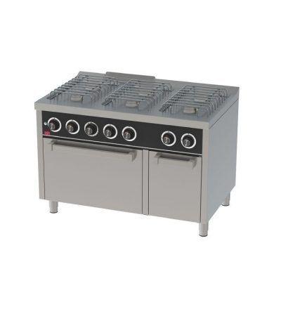 Cocina a Gas 6 Fuegos con Horno EC 1200×750