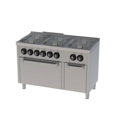Cocina a Gas 6 Fuegos con Horno Electrico 1200×600 ECO