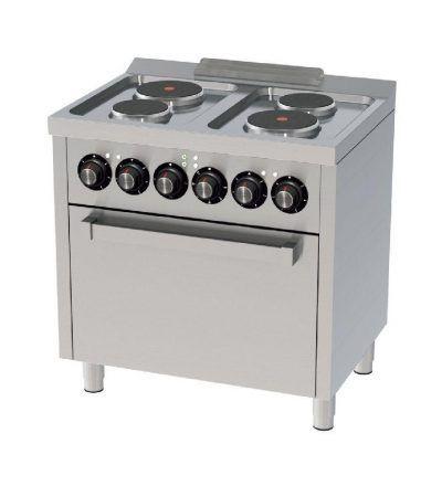 Cocina Electrica 4 placas con Horno 800×600 ECO