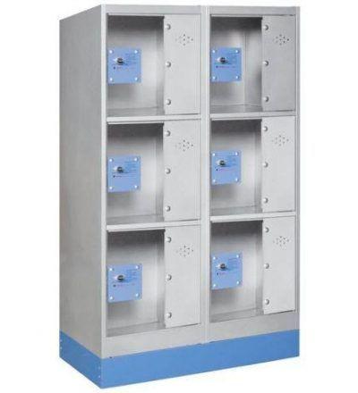 Consigna monoblok met%C3%A1lica soldada con puerta metacrilato CM3P1200 D 400x440 - Maquinaria hostelería ocasión