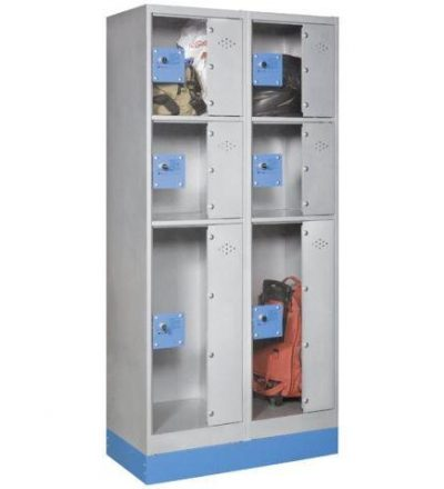 Consigna monoblok met%C3%A1lica soldada con puerta metacrilato CM3P1600 D 400x440 - Maquinaria hostelería ocasión