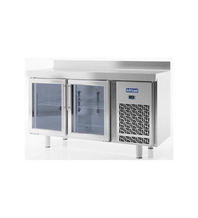 Mesa refrigerada 1,5 metros 2 Puertas Cristal