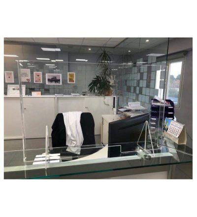 Mampara Proteccion Metacrilato Bancos