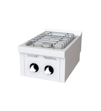 Cocina a Gas Sobremesa 2 Fuegos 400x600 ECO