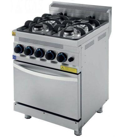 Cocina a Gas 4 Fuegos con Horno ECO 600×630