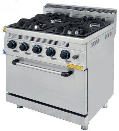 Cocina a Gas 4 Fuegos con Horno ECO 800×730