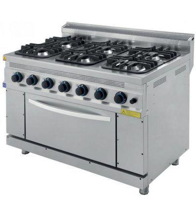 Cocina a Gas 6 Fuegos con Horno ECO 1200x700