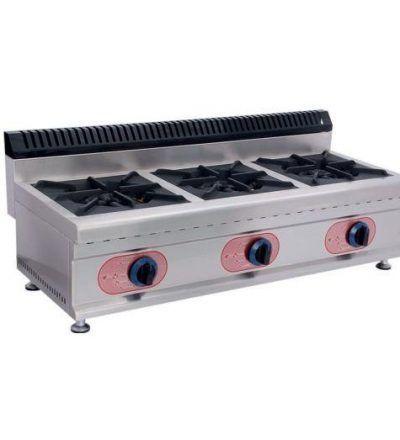 Cocina a Gas Sobremesa 3 Fuegos ECO 1040×450