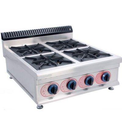 Cocina a Gas Sobremesa 4 Fuegos ECO 700×790