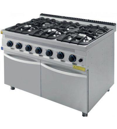 Cocina a Gas 6 Fuegos con Mueble ECO 1200x930