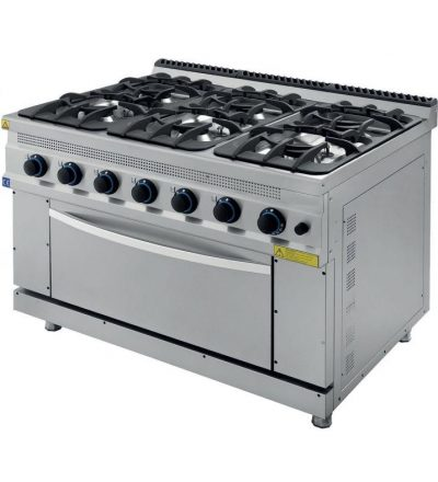 Cocina a Gas 6 Fuegos con Horno ECO 1200x930