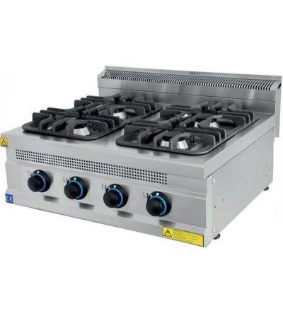 Cocina a Gas Sobremesa 4 Fuegos ECO 800×700