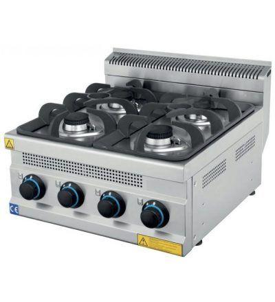 Cocina a Gas Sobremesa 4 Fuegos ECO 600×630