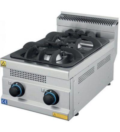 Cocina a Gas Sobremesa 2 Fuegos ECO 400×700