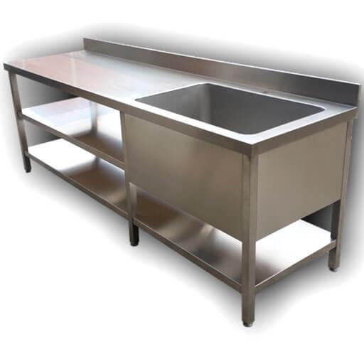 fregadero - Muebles de acero a medida