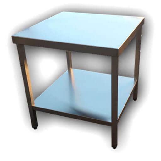 mesa cuadrada - Muebles de acero a medida