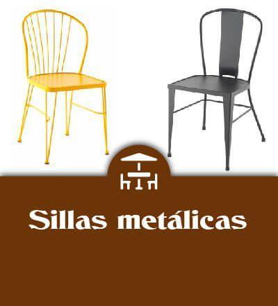 sillas metálicas