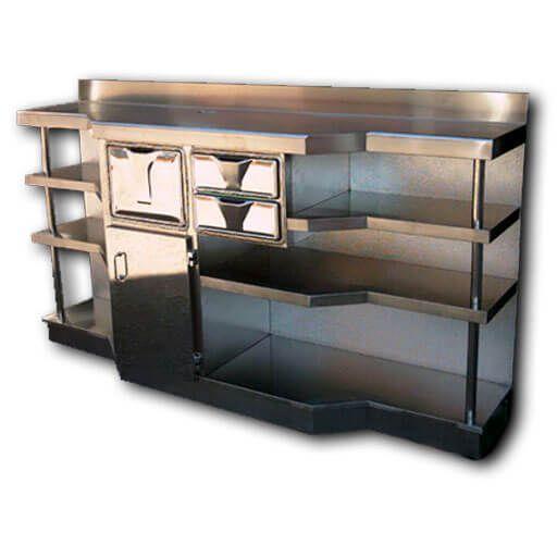 mueble cafetero - Muebles de acero a medida