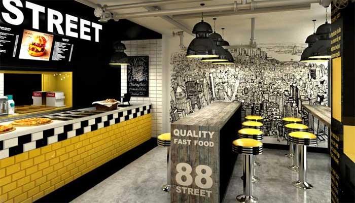 Color corporativo fast food - Cómo decorar un restaurante: La guía definitiva.